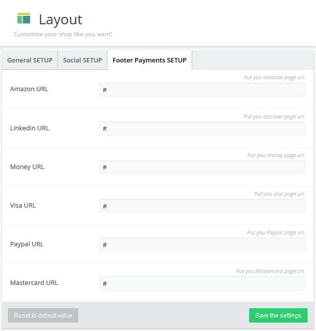 layout payments