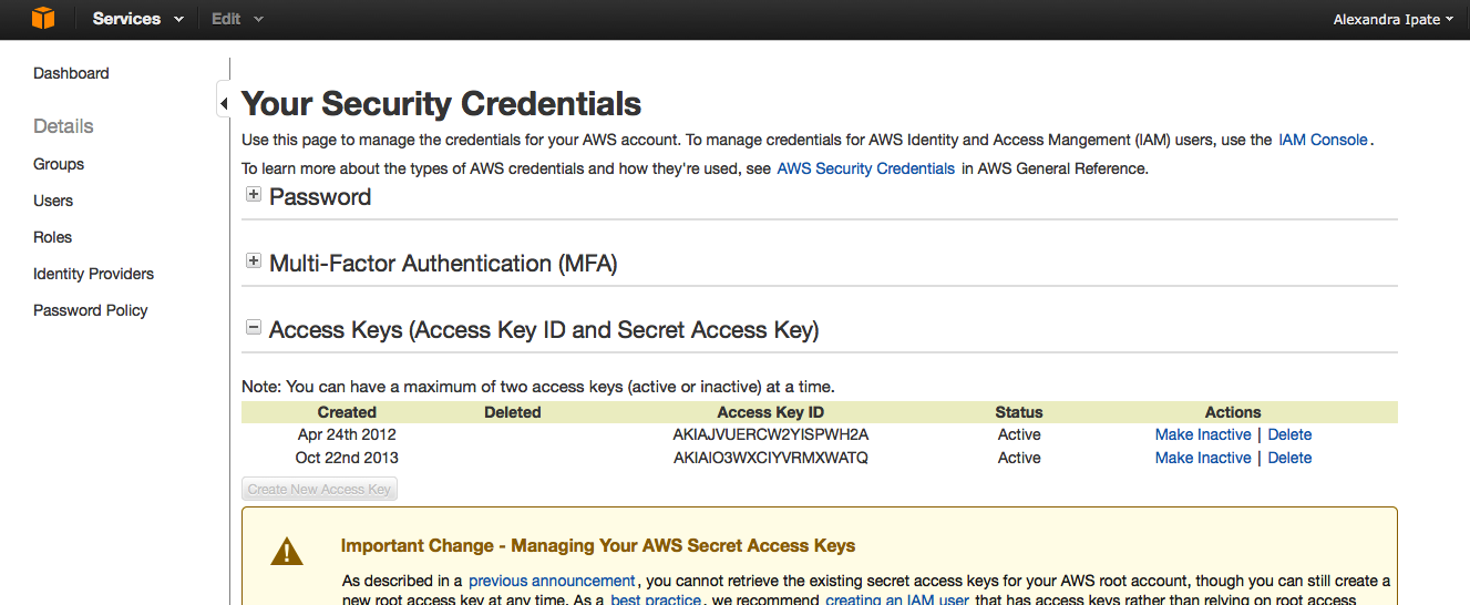 adf-amazon-credentials