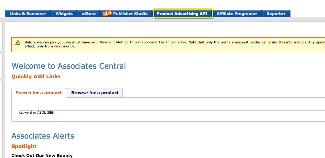 How to create an amazon account and sign up for the product advertising api - Api up ...
