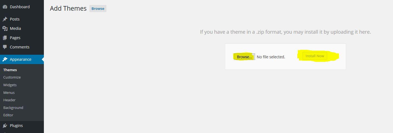 WooEnvato theme install