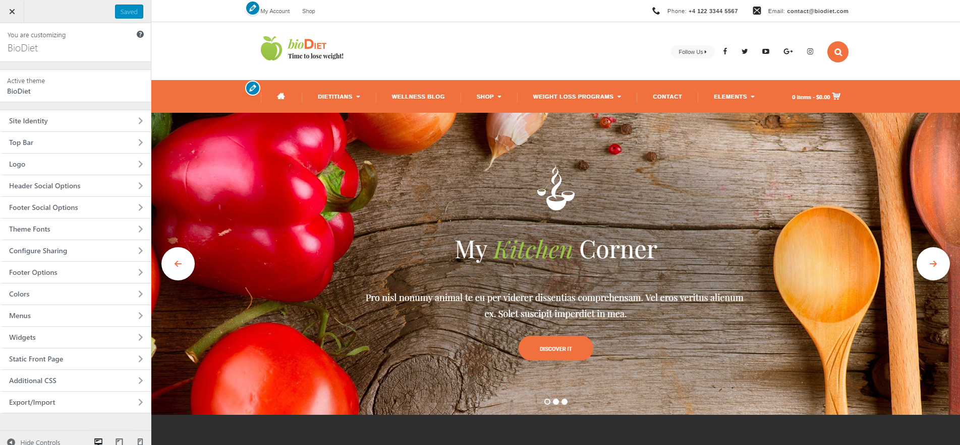 Customize BioDiet – Just another WordPress site